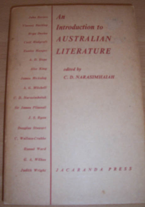 Image for Introduction to Australian Literature, An