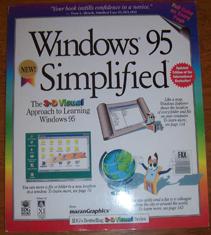 Image for Windows 95 Simplified: 3-D Visual Series