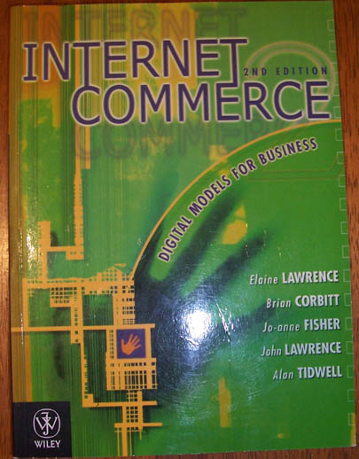 Image for Internet Commerce: Digital Models for Business