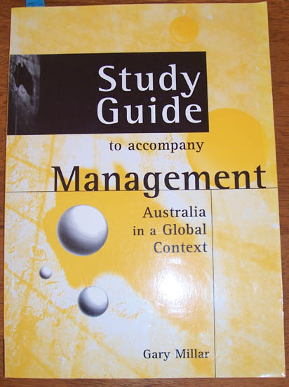Image for Study Guide to Accompany 'Management: Australia in a Global Context'