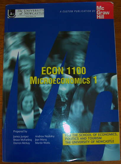 Image for ECON 1100 Microeconomics 1 (University of Newcastle)