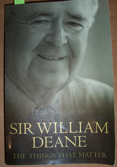 Image for Sir William Deane: The Things That Matter