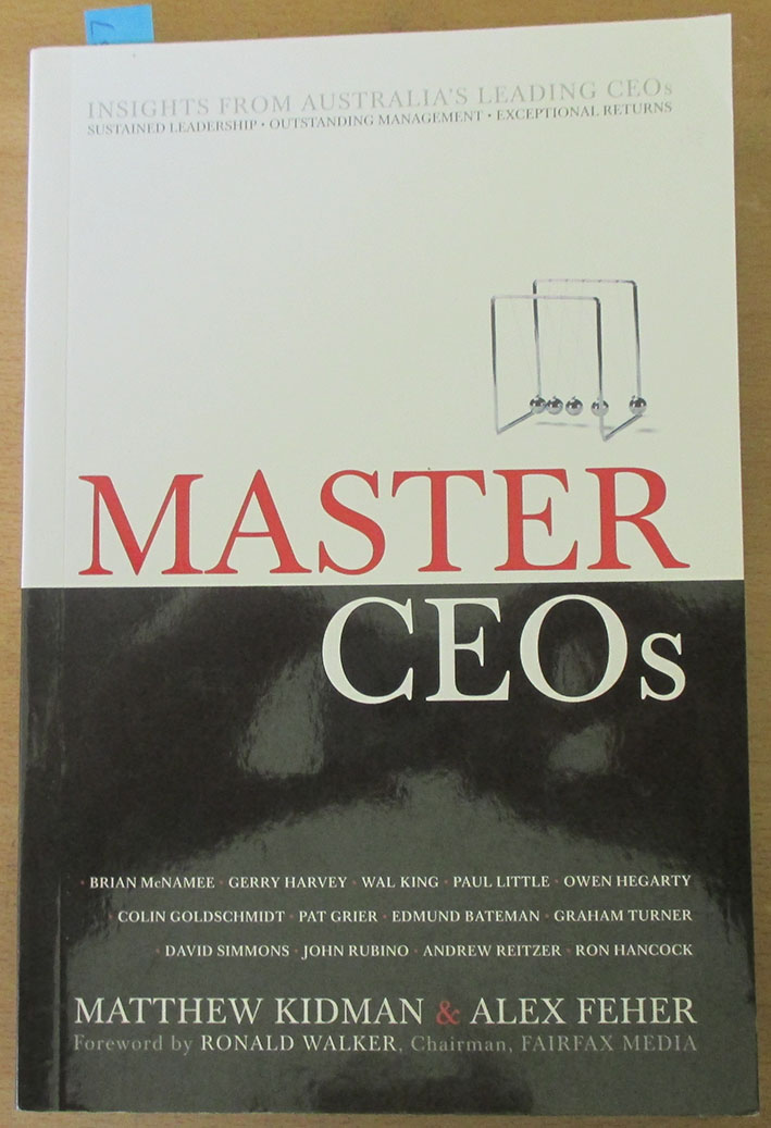 Image for Master CEOs: Insights From Australia's Leading CEOs