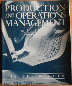 Image for Production and Operations Management: Strategies and Tactics
