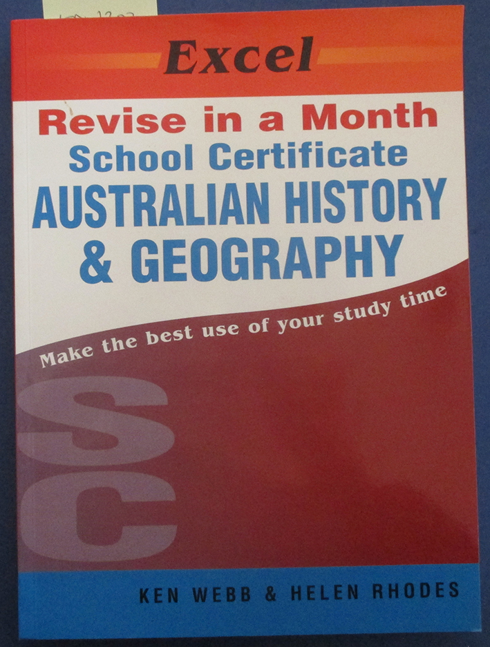 Image for School Certificate Australian History & Geography (Excel Revise in a Month)