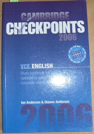 Image for Cambridge Checkpoints 2006 - VCE English