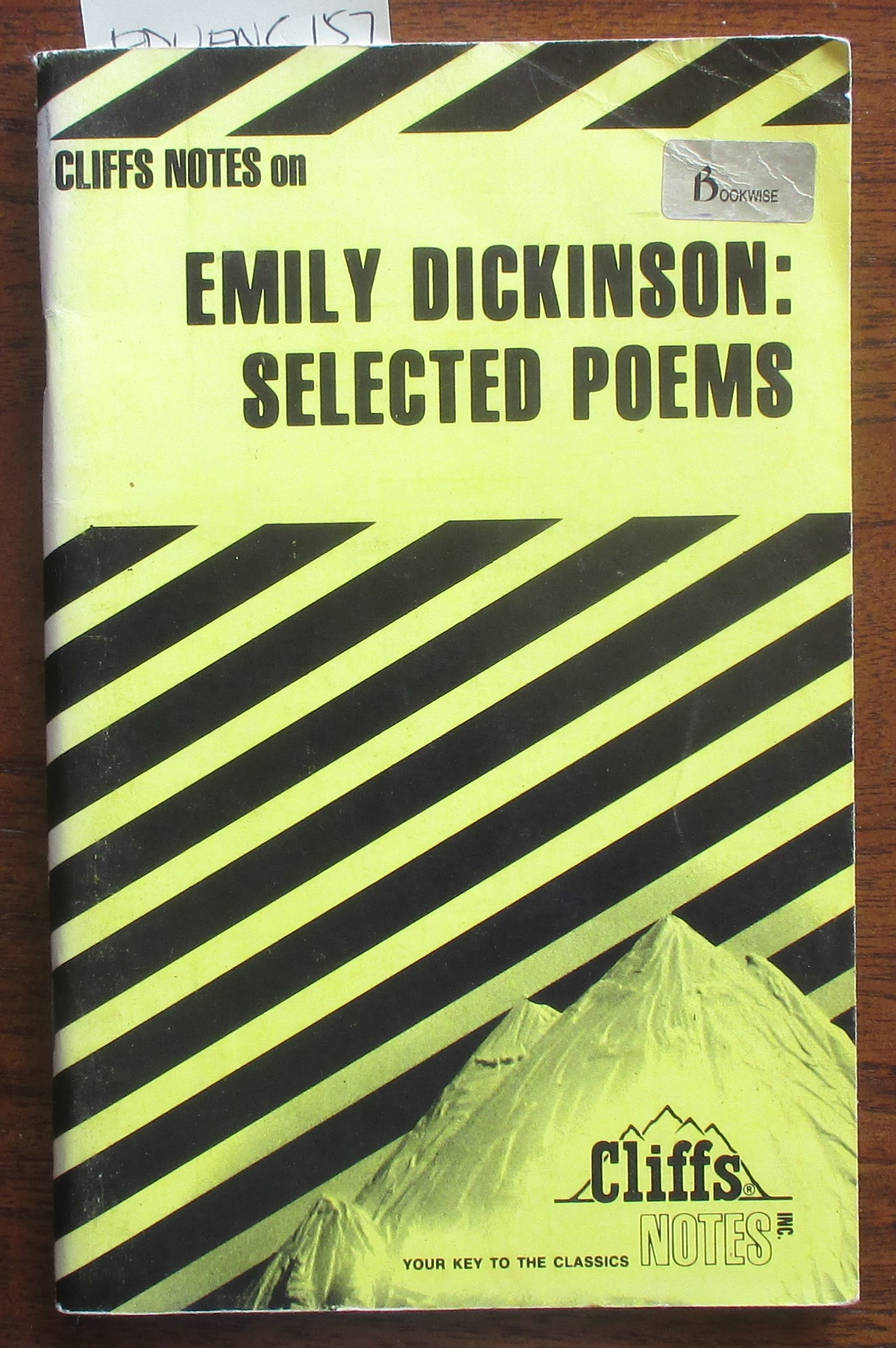 Image for Emily Dickinson: Selected Poems (Cliffs Notes)