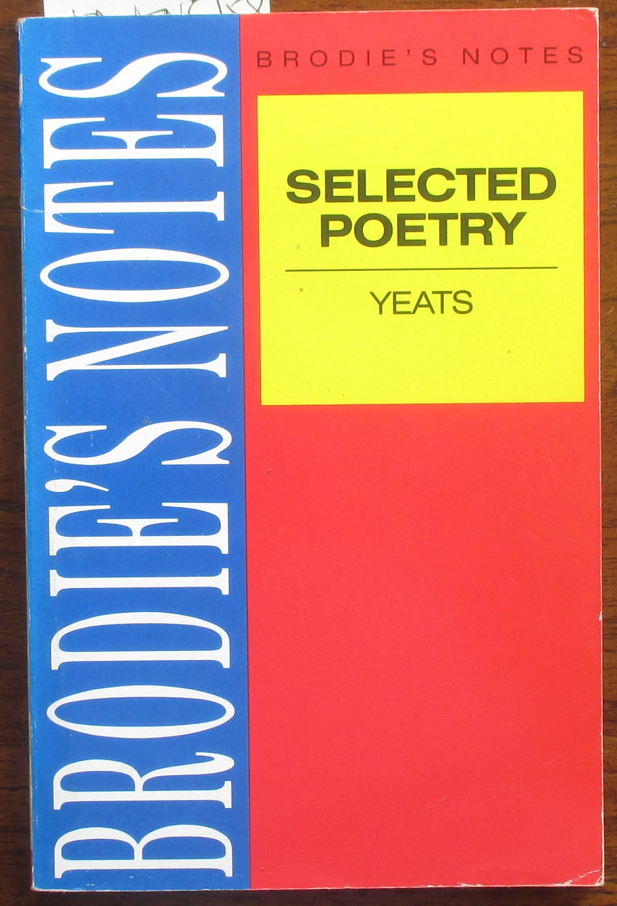 Image for W. B. Yeats: Selected Poetry (Brodie's Notes)