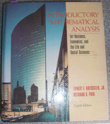 Image for Introductory Mathematical Analysis for Business, Economincs, and the Life and Social Sciences