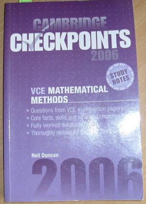 Image for Cambridge Checkpoints 2006 - VCE Mathematical Methods