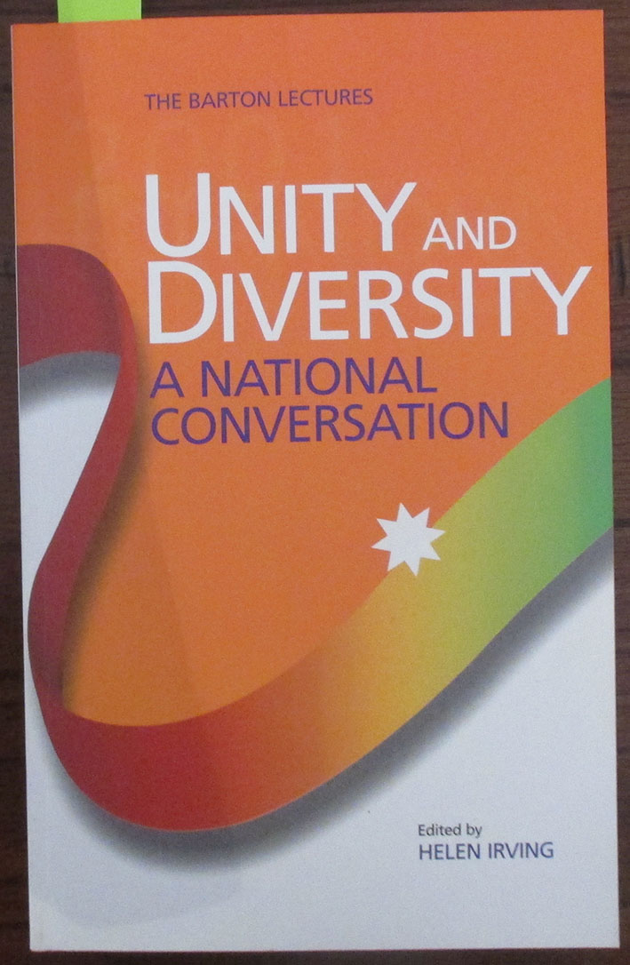 Image for Unity and Diversity: A National Conversation (The Barton Lectures)