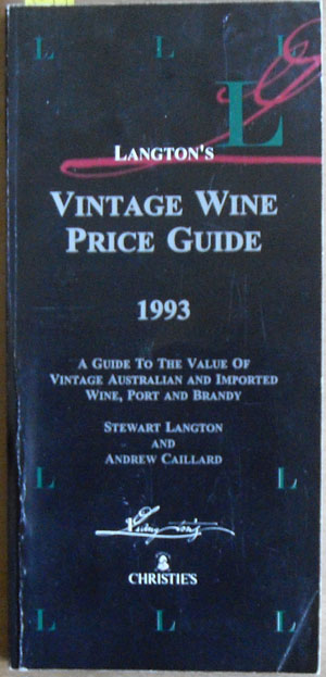 Image for Langton's Vintage Wine Price Guide (1993)