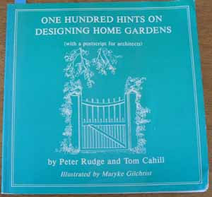 Image for One Hundred Hints on Designing Home Gardens