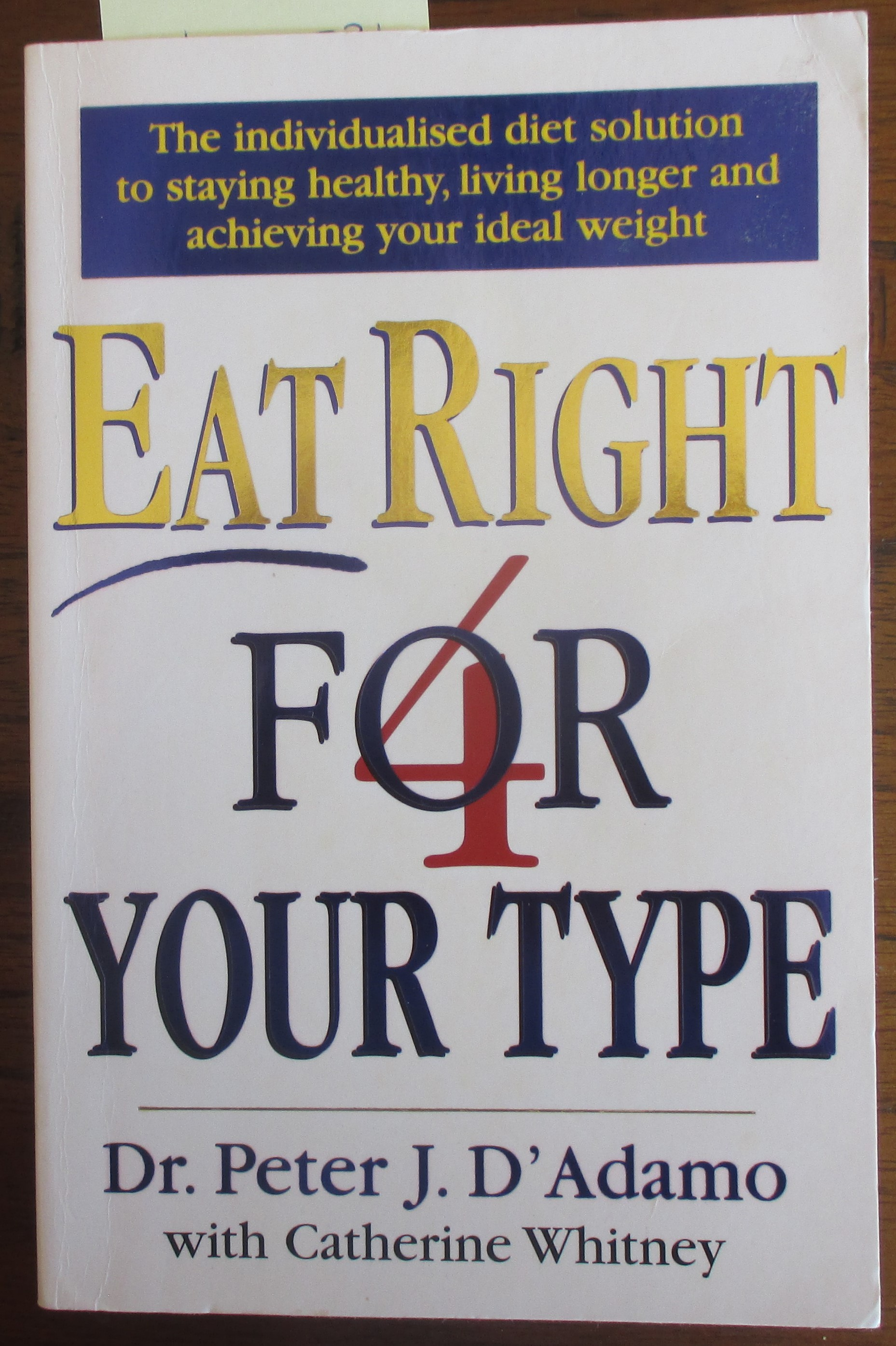 Image for Eat Right For Your Type