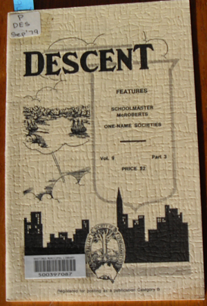 Image for Descent: The Journal of the Society of Australian Genealogists (Vol 9, September 1979, Part 3)