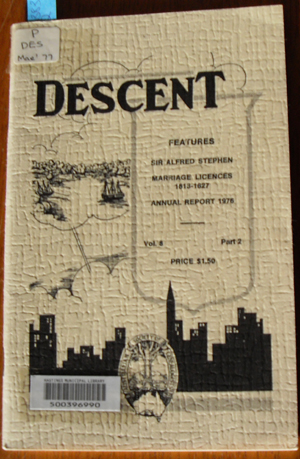 Image for Descent: The Journal of the Society of Australian Genealogists (Vol 8, March 1977, Part 2)