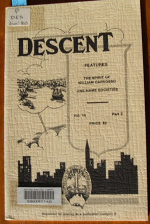 Image for Descent: The Journal of the Society of Australian Genealogists (Vol 10, June 1980, Part 2)