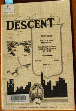 Image for Descent: The Journal of the Society of Australian Genealogists (Vol 10, September 1980, Part 3)