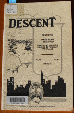 Image for Descent: The Journal of the Society of Australian Genealogists (Vol 10, December 1980, Part 4)