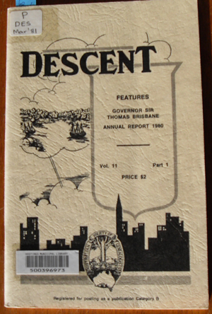 Image for Descent: The Journal of the Society of Australian Genealogists (Vol 11, March 1981, Part 1)