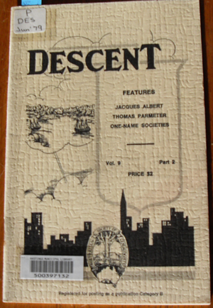 Image for Descent: The Journal of the Society of Australian Genealogists (Vol 9, June 1979, Part 2)