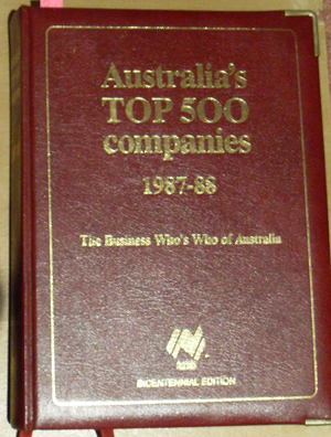 Image for Australia's Top 500 Companies 1987-88: The Business Who's Who of Australia (Bicentennial Edition)