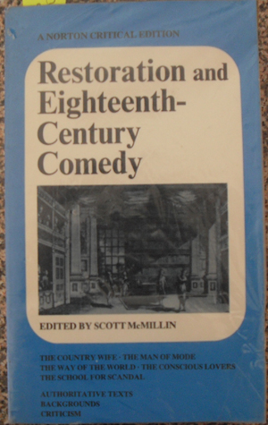 Image for Restoration and Eighteenth-Century Comedy