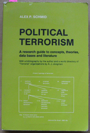 Image for Political Terrorism: A Research Guide to Concepts, Theories, Data Bases and Literature