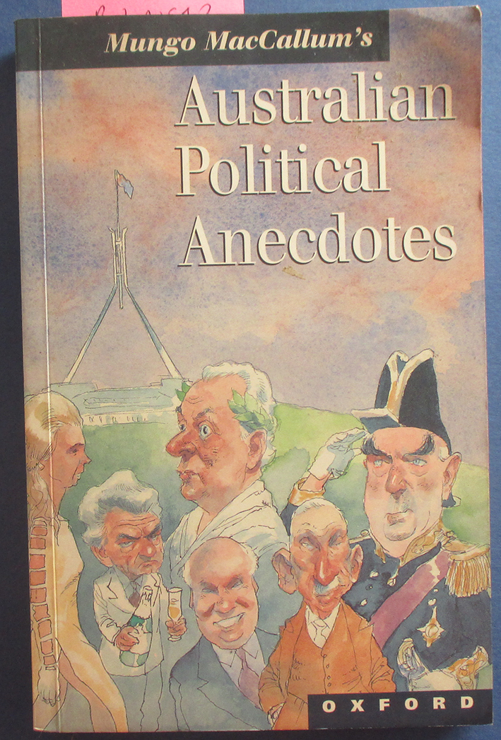 Image for Australian Political Anecdotes