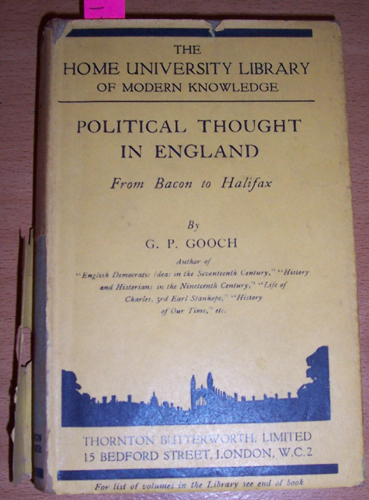 Image for Political Thought in England: From Bacon to Halifax (The Home University Library of Modern Knowledge)