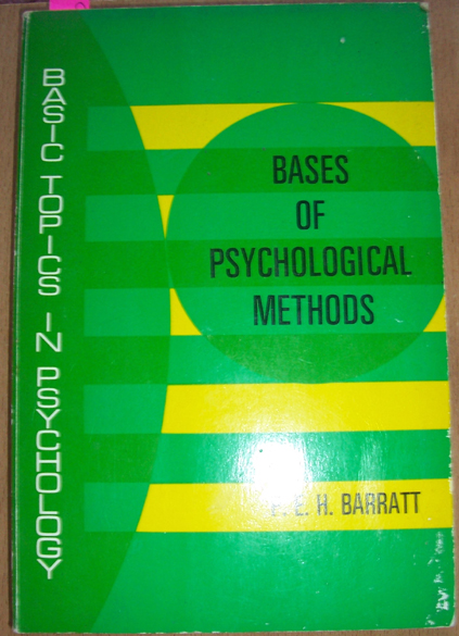 Image for Bases of Psychological Methods
