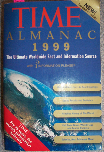 Image for Time Almanac 1999: The Ultimate Worldwide Fact and Information Source