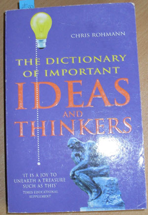 Image for Dictionary of Important Ideas and Thinkers, The