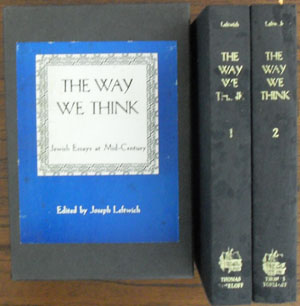 Image for Way We Think, The: A Collection of Essays from the Yiddish (Volume 1 and 2 in Box)