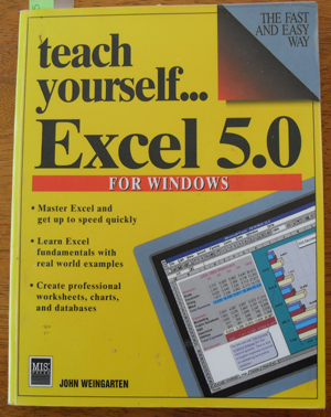 Image for Teach Yourself...Excel 5.0 For Windows