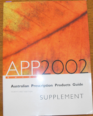 Image for Australian Prescription Products Guide 2002: Supplement