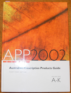 Image for Australian Prescription Products Guide 2002: Volume One A-K