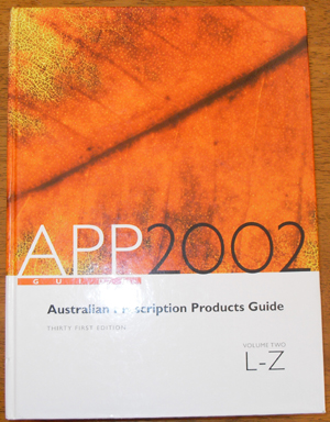 Image for Australian Prescription Products Guide 2002: Volume Two L-Z