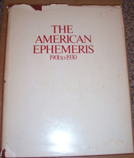 Image for American Ephermeris, The: 1901 to 1930