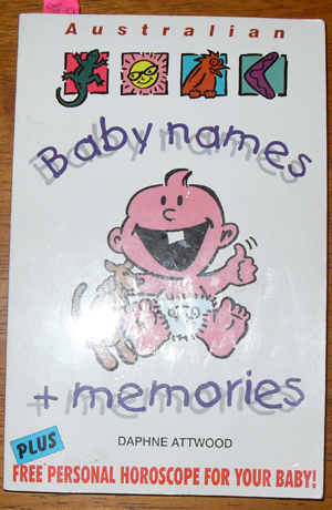 Image for Australian Baby Names and Memories