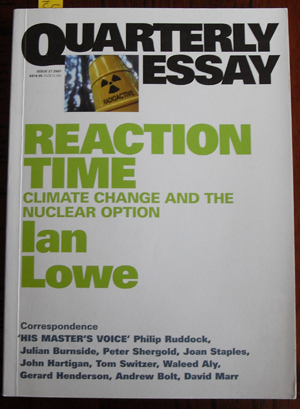 Image for Quarterly Essay: Reaction Time (Issue 27, 2007)