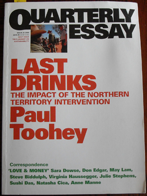 Image for Quarterly Essay: Last Drinks (Issue 30, 2008)