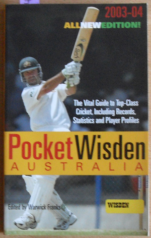 Image for Pocket Wisden Australia 2003-04