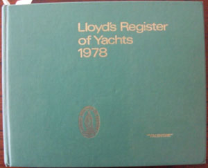 Image for Lloyd's Register of Yachts 1978
