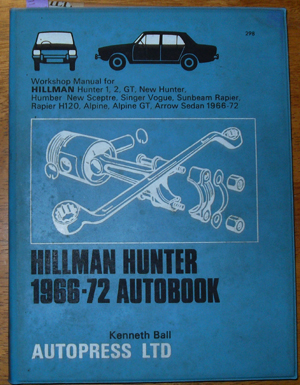 Image for Hillman Hunter 1966-72 Autobook
