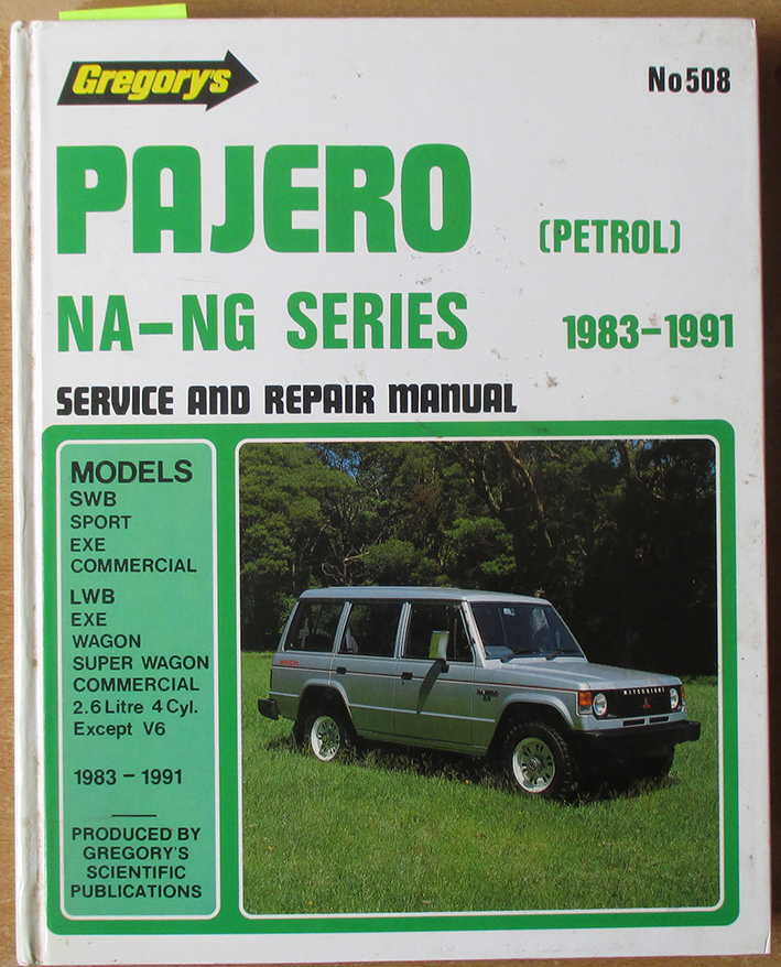 Image for Gregory's Pajero (Petrol) NA-NG Series Service and Repair Manual (1983-1991) - No 508