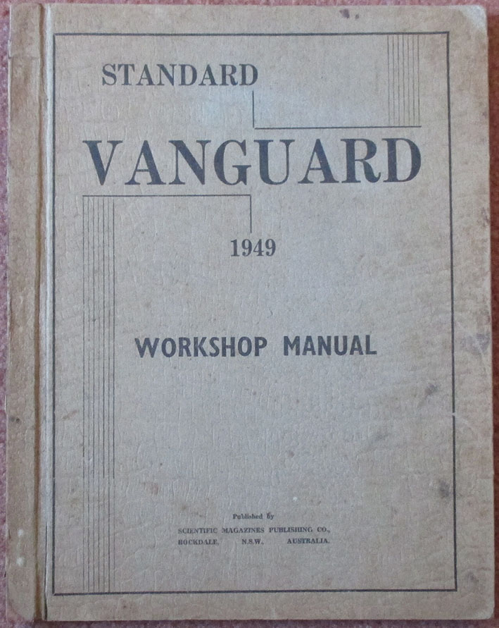 Image for Standard Vanguard Workshop Manual 1949: Supplement to British Repair Manual - Cars and Trucks