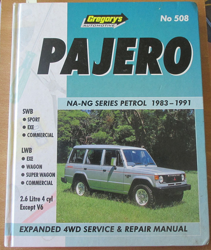 Image for Pajero NA-NG Series Petrol 1983-1991: Expanded 4WD Service & Repair Manual (No 508)