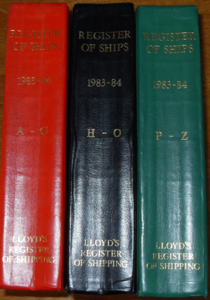 Image for Lloyd's Register of Ships (Three Volumes)