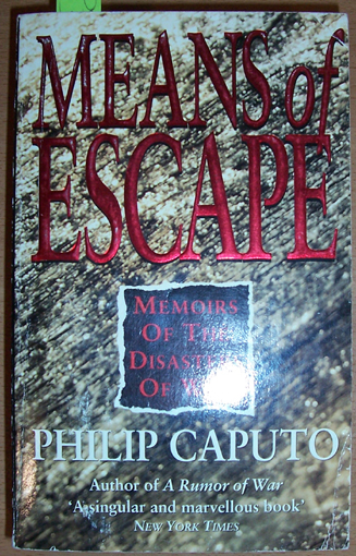 Image for Means of Escape: Memoirs of the Disasters of War
